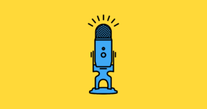 Podcast with Dirk Mulder on entrepreneuring, microphone picture